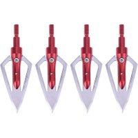 4pcs Stainless Steel Hunting Bow Archery 2-Blade Arrow Heads Broadheads