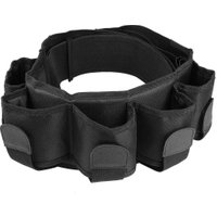 5-Pocket Adjustable Outdoor Hunting Waist Belt Cartridge Holder Bag Black