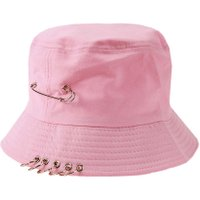 Cool Unisex Iron Ring Folding Hunting Fishing Fisherman Outdoor Cap(Pink)