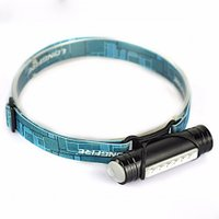 Mini 800LM 6-LED 3-Mode USB Rechargeable Headlamp Flashlight, Head Torch with Built-in Battery for Hunting Fishing Black